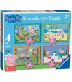 PUZZLE 4 IN A BOX PEPPA PIG