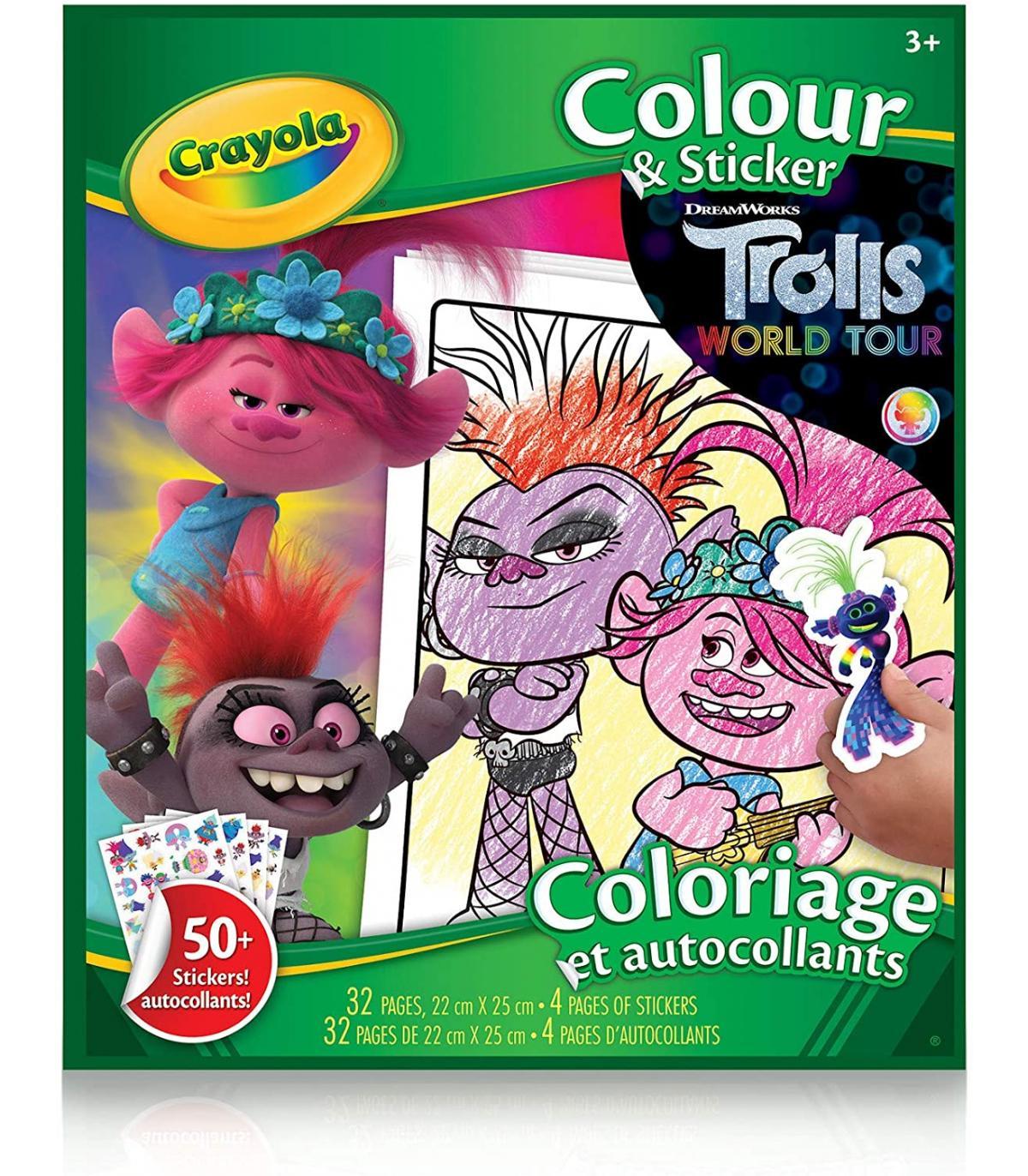 album adesivi-coloring trolls